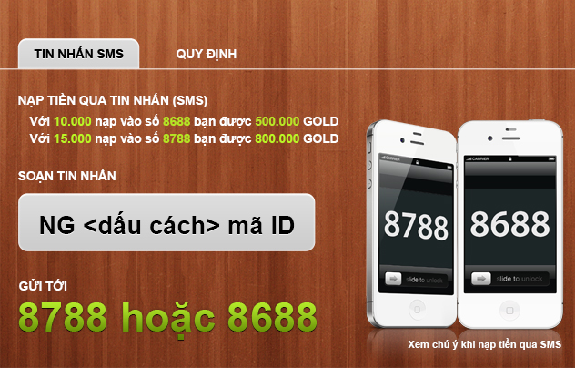 nạp tiền sms
