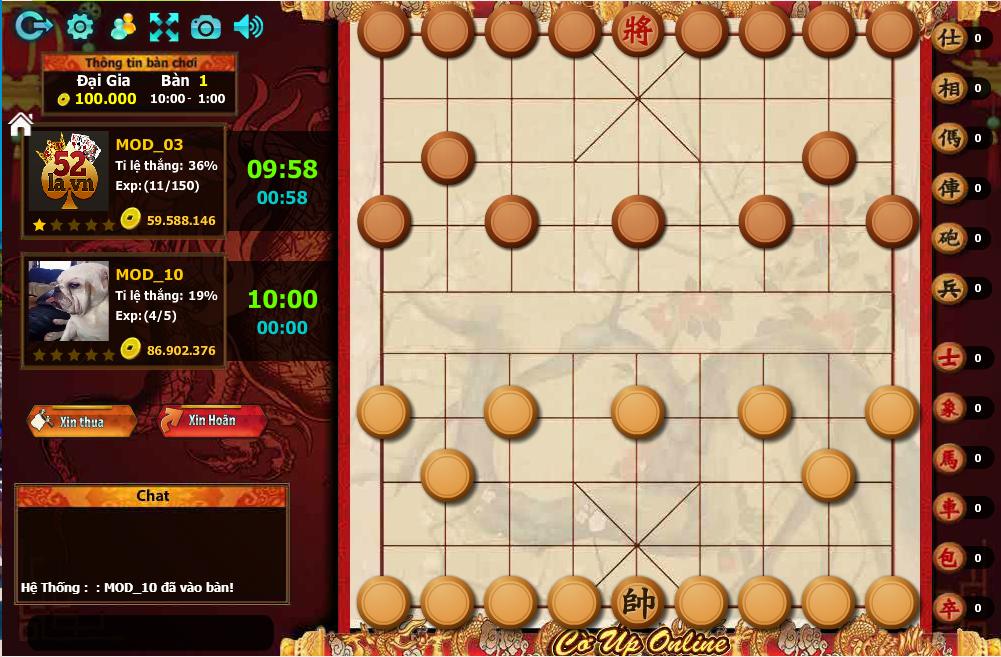 giao diện game cờ úp